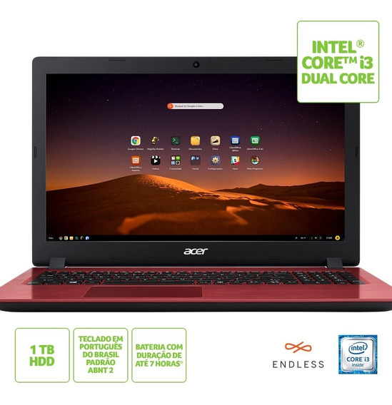 Notebook Acer Intel Core I3 8gb 1tb 15,6