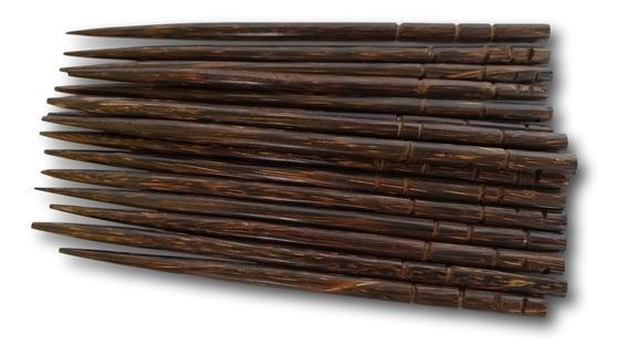 Palito De Coco Tucum Para Cabelo (cento)ref. 7512