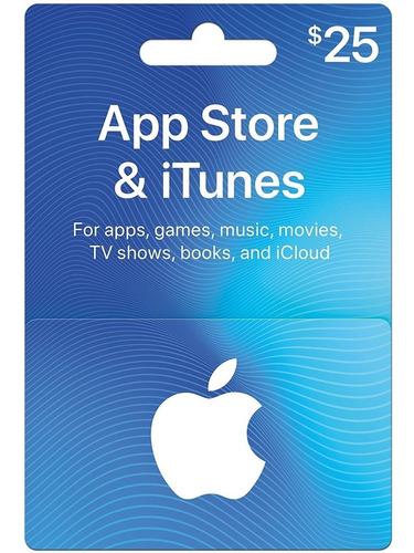 Imagen 1 de 6 de $25.00 Itunes, App Store, Applemusic, Mac, Tarjeta De Regalo