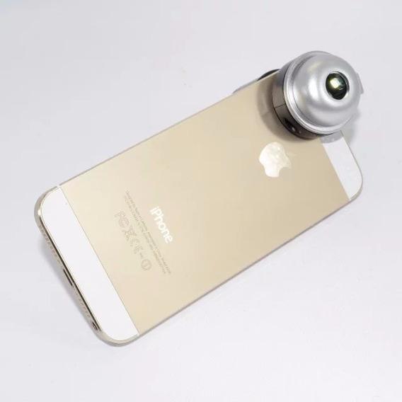 Mini Microscópio Lupa Conta-fio Zoom 30x P/ Celular C/ Leds