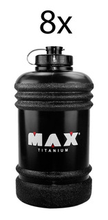 Kit 8x Mini Galão De Água Academia Garrafa 2,2l Max Titanium