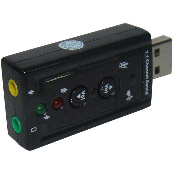Placa De Som Usb 7.1 Canais Adaptador Audio - Pronta Entrega