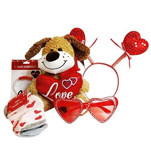 Día De San Valentín Happy Glitter Hearts Bopper Traje De Fie