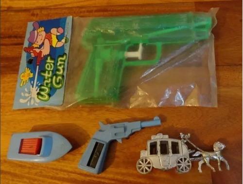 Lote Juguetes Decada 80 Pistola De Agua Saca Puntas - Zwt