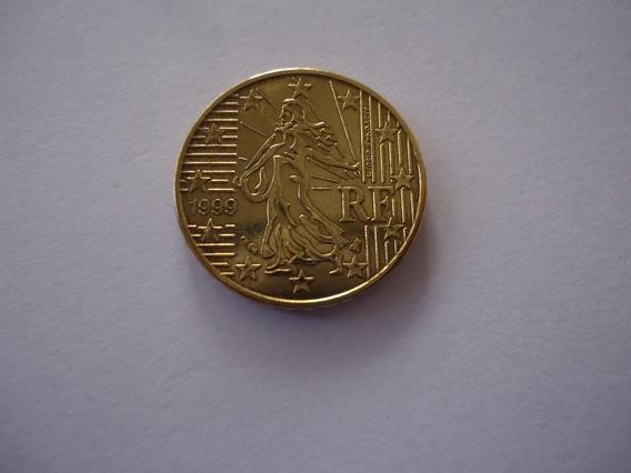 Moeda Bronze 10 Dez Cent Centavos Euro 1999 República França