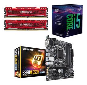 Kit Intel I5 8400 + Gigabyte B360m Ds3h + Bl 16gb 2400