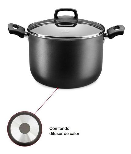 Imagen 1 de 5 de Olla Cocina Antiadherente Grafito 6.8lt Pa-pa