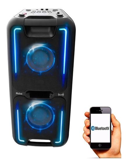 Caixa Som Pcx5500 Effects Festa Som Potente Bluetooth Philco