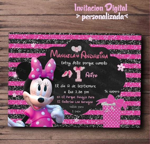 Tarjetas Infantiles Para Cumpleaños Minnie Invitaciones