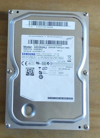 Disco Duro Interno Samsung Hd252. Para Repuesto.
