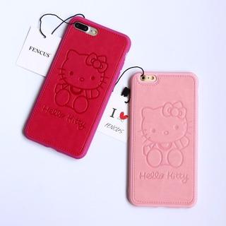 Funda Kitty Tipo Piel Para iPhone