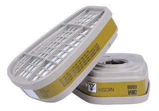 Par Cartuchos Filtros 6006 3m Vapores Orgánicos Gases Ácidos