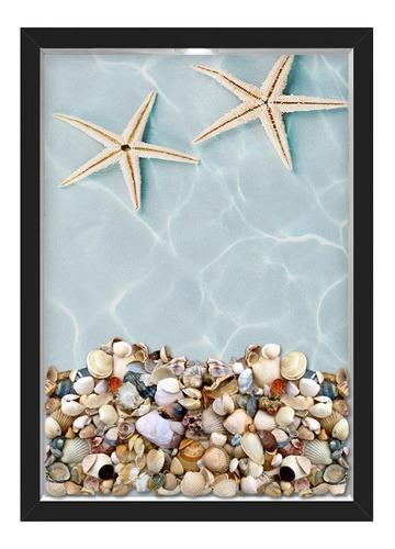 Quadro Caixa Porta Conchas Praia Estrelas