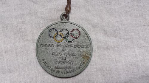 Medalla Llavero Antiguedad Coleccion Comite Peru Esgrima 4g