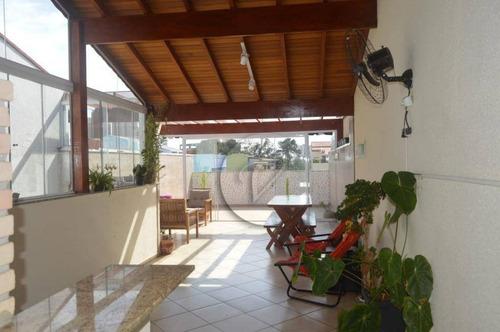 Cobertura Com 2 Dormitórios À Venda, 140 M² Por R$ 560.000,00 - Vila Pires - Santo André/sp - Co0817