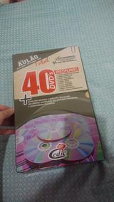 Mega Aulão 40 Dvds+livro Com Questões+brindes