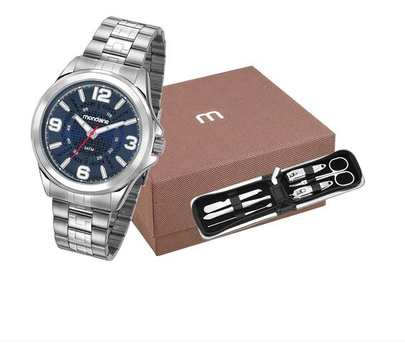 Kit Relógio Mondaine Masculino 83419g0mvne2k1