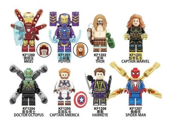 Ironman Thor Pepper Cap America Marvel Tipo Lego Kf6097