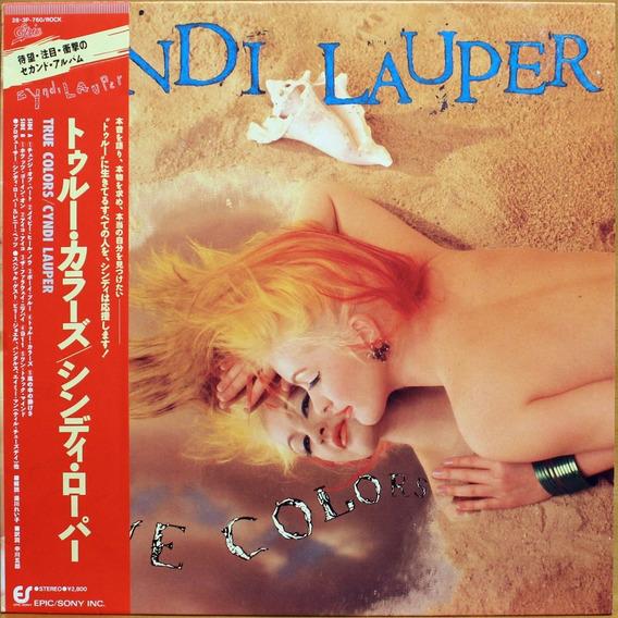 Lp Cyndi Lauper True Colors ( Importado + Obi )