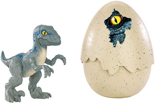 Jurassic World Huevo Sorpresa Bebe Velociraptor Blue