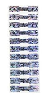 100 De Alta Seguridad De Manipulación Etiquetas De Hueso D
