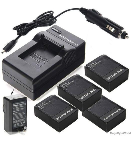 Lote De 4 Baterias Ahdbt-302 Gopro Hero 3 + Um Carregador