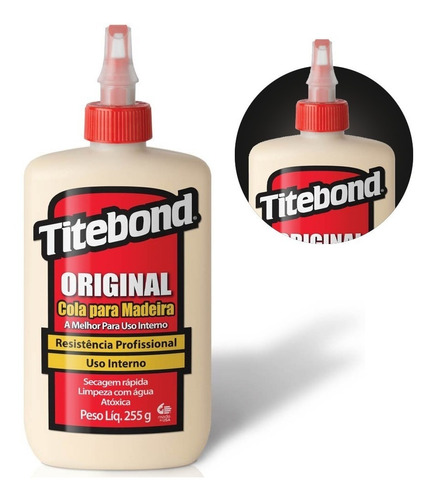 Cola Original P/ Madeira Wood Glue 255g 6026101 Titebond
