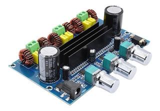 Modulo Amplificador Audio 2.1 - 2x50w + 1x100w Bluetooth Aux