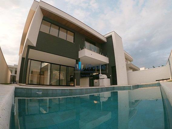 Casa Moderna Condomínio Jardim Do Golfe Sjc, Piscina, 4 Suítes, São José Dos Campos-sp - Ca0916
