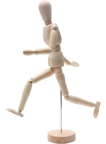 Muñeco Madera Articulado Hombre 30cm