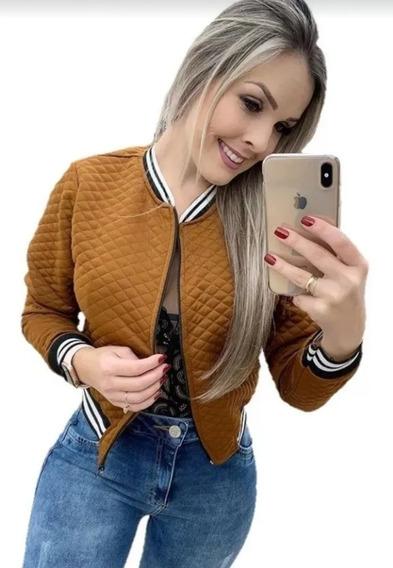 Jaquetinha Bomber Social Casaquinho Feminina Metalassê Linda