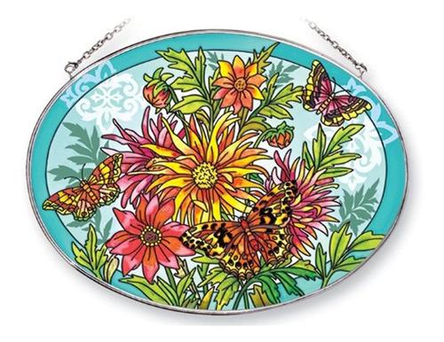 Imagen 1 de 1 de Amia Suncatcher Con Un Diseño De Mariposa Pintado A Mano De