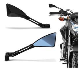 Retrovisor Moto Esportivo 100% Aluminio Similar Rizoma Preto