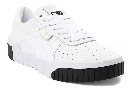 Tenis Puma Mod. 361835 Cali Fashion Mujer Blanco Y Negro / J