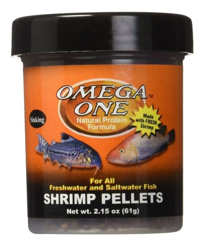 Shrimp Pellets 61gr Omega One Para Peces Tropicales