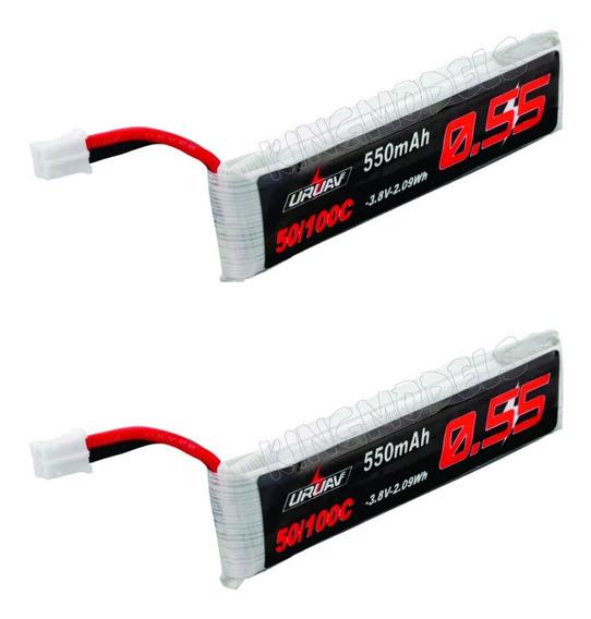 2x Pçs Bateria Para Emax Tinyhawk 1s 3.7v 550mah 50/100c Top