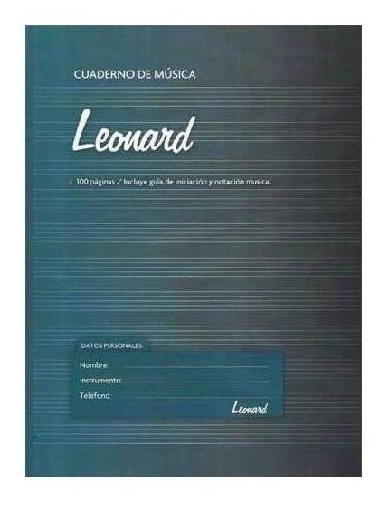 Cuaderno Leonard Pentagramado A4 Espiralado 50 Hojas Lnd-50