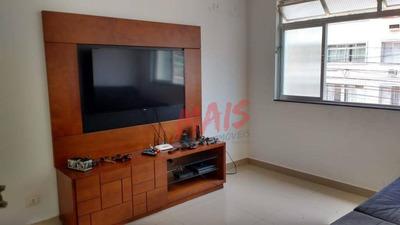 Apartamento Com 2 Dormitórios À Venda, 90 M² Por R$ 390.000 - Campo Grande - Santos/sp - Ap5098
