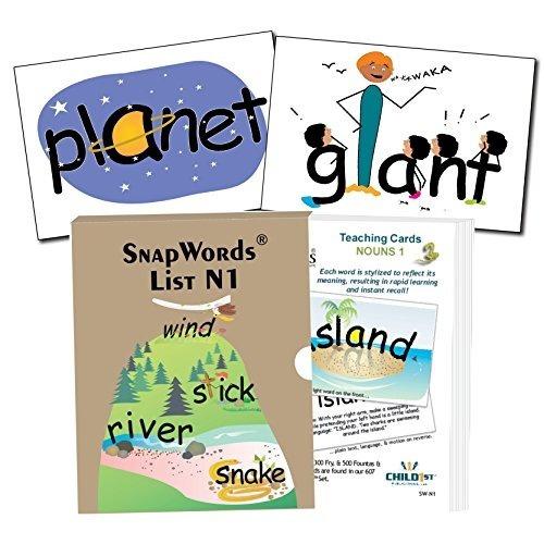 Snapwords Sustantivos 1 Enseñanza Sight Word Cards