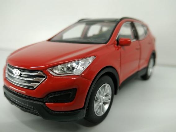 Carrinho Miniatura Santa Fé Hyundai 136 Várias Cores Coleção