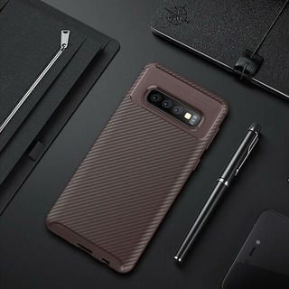 Case Cover Luxo Samsung Galaxy S10 Plus Anti-choque Marrom