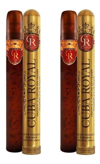 02 Perfumes Cuba Royal For Men Eau De Toilette + Nota Fiscal