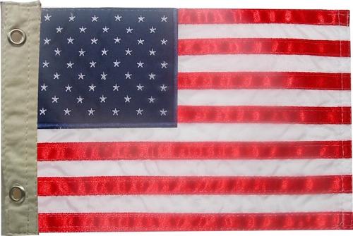 Bandeira Para Moto Bordada Dos Estados Unidos Dupla Face