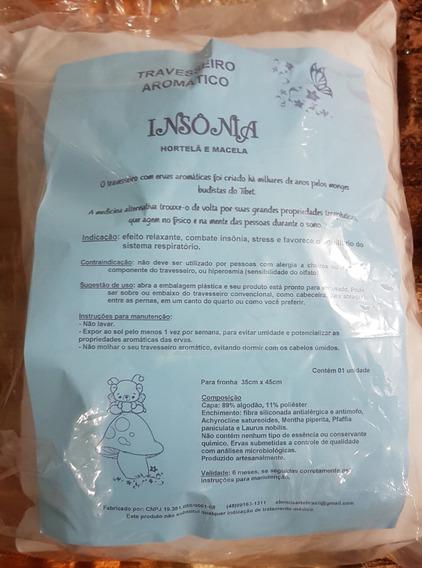 Travesseiro Aromático C/ Ervas Terapêuticas + Fronha