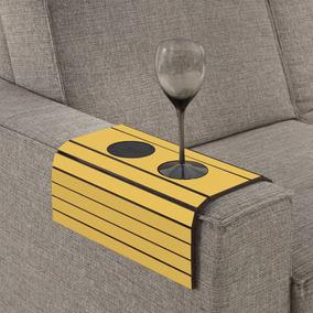 Esteira Para Braço De Sofá Com Porta Copos - Amarelo
