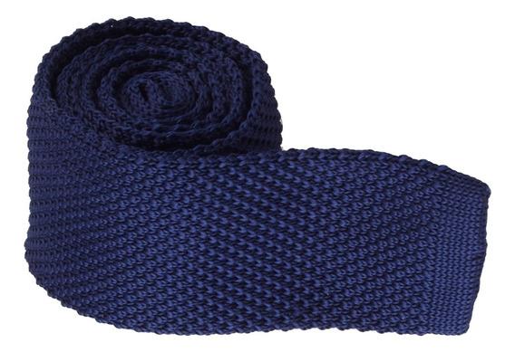 Corbata Tejida De Punto Estrecha Cuadrada Color Sólida