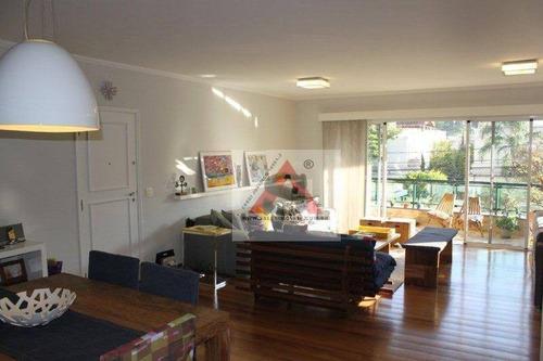 Apartamento Com 3 Dormitórios À Venda, 167 M² Por R$ 1.800.000,00 - Brooklin Paulista - São Paulo/sp - Ap34937