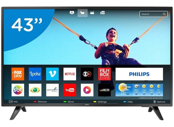 Smart Tv Led 43 Philips Full Hd 43pfg5813/78 2 Hdmi 2 Usb