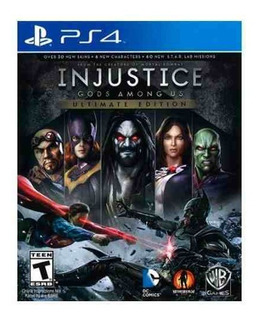 Injustice Gods Among Us Ultimate Edition Ps4, Físico, Nuevo