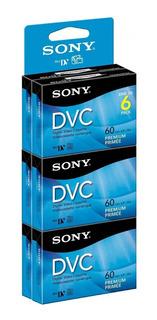 Paquete De 6 Video Cassettes Cinta Digital Sony Dvc Mini Dv Premium Dvm60prr Sp=60min Lp=90min Envio Gratis